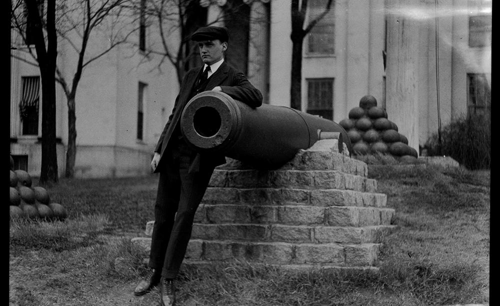 Man at Alabama State Capitol Building, Montgomery, AL
